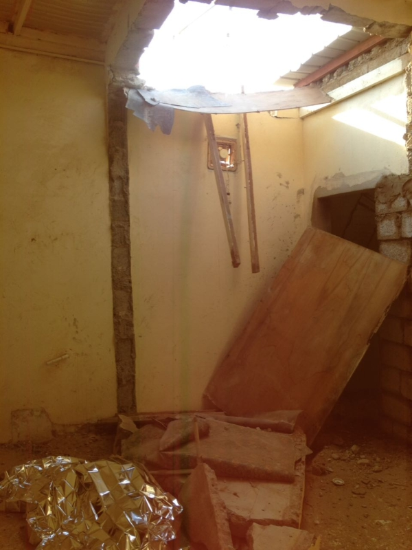 انهيار سقف مبنى صبيا
