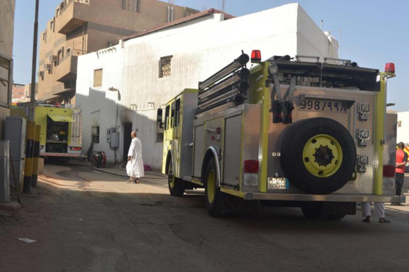 وفاة رضيع اختناقًا بحريق في منزل بالمدينة1