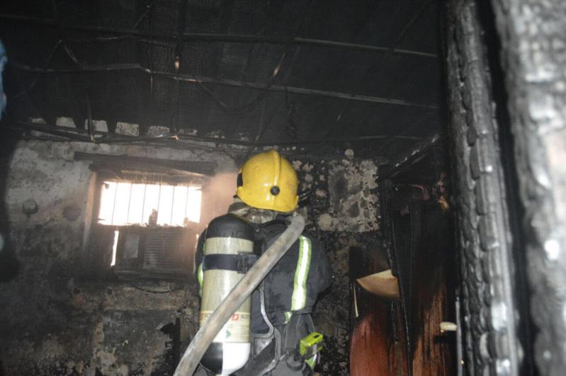 وفاة رضيع اختناقًا بحريق في منزل بالمدينة2