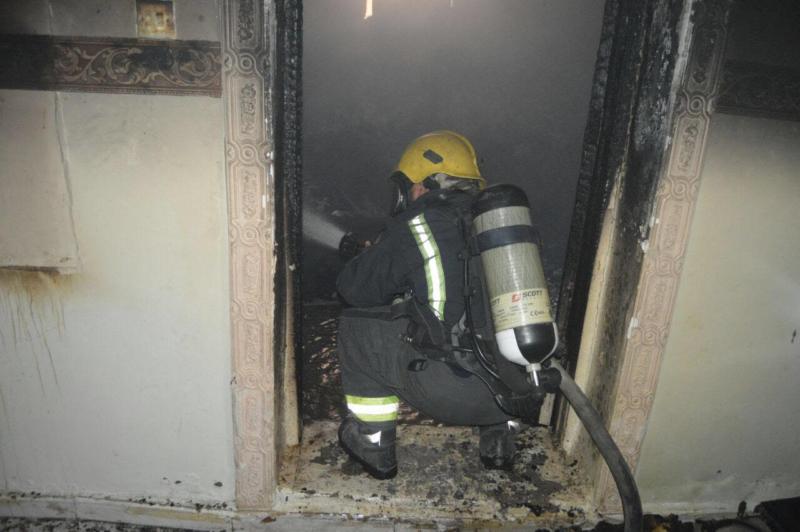 وفاة رضيع اختناقًا بحريق في منزل بالمدينة3