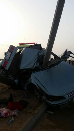 وفاة شاب في حادث مورع لارتطام مركبته بعمود بدولي #جازان