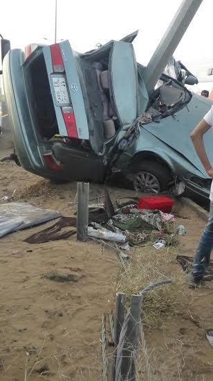 وفاة شاب في حادث مورع لارتطام مركبته بعمود بدولي #جازان1