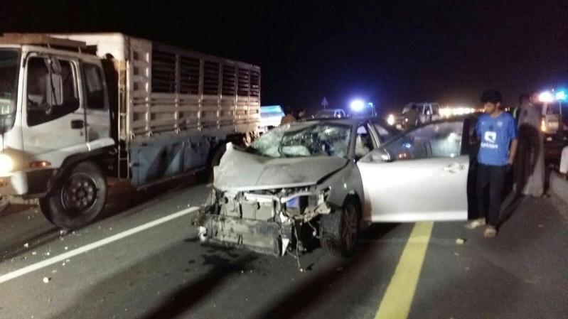 وفاة شخصين وإصابة آخر في حادث تصادم بـ #جازان (1)