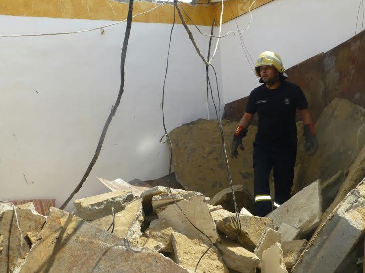 وفاة شخص إثر انهيار سقف منزل بجازان1
