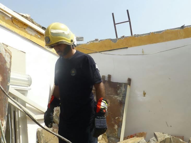 وفاة شخص إثر انهيار سقف منزل بجازان2