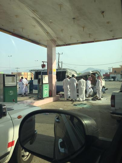 حادثة انقلاب باص طالبات - الباحة