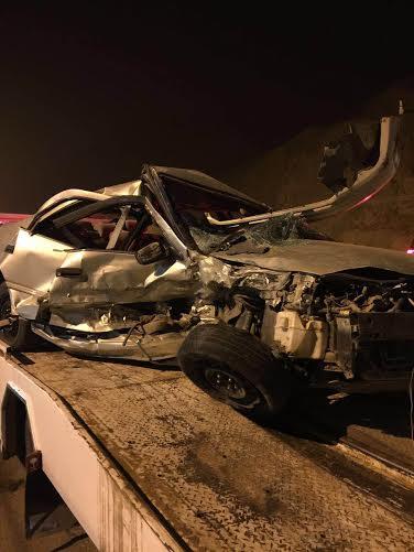 وفاة وأصابتين بحادث تصادم مروري