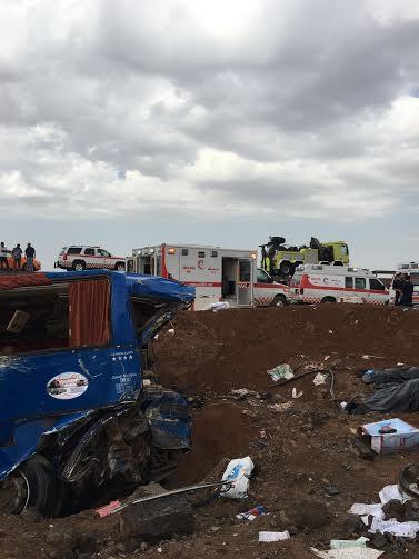 وفاة وإصابة ٤٦ شخصًا بحادث حافلة المعتمرين بالمدينة