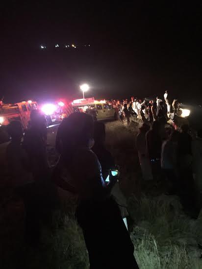 وفاة وإصابة 3 آخرين إثر سقوط مركبة بعارضة3