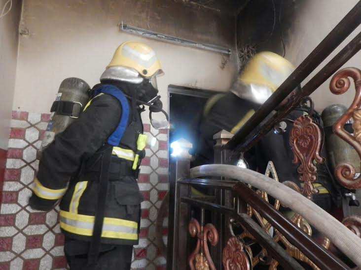وفاة وإصابة 7 أشخاص بحريق منزل بأحد المسارحة5