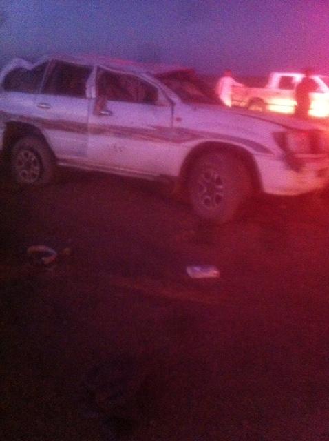 وفاة و5 إصابات بانقلاب سيارة بطريق المدينة- تبوك (1)
