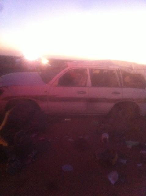 وفاة و5 إصابات بانقلاب سيارة بطريق المدينة- تبوك (2)