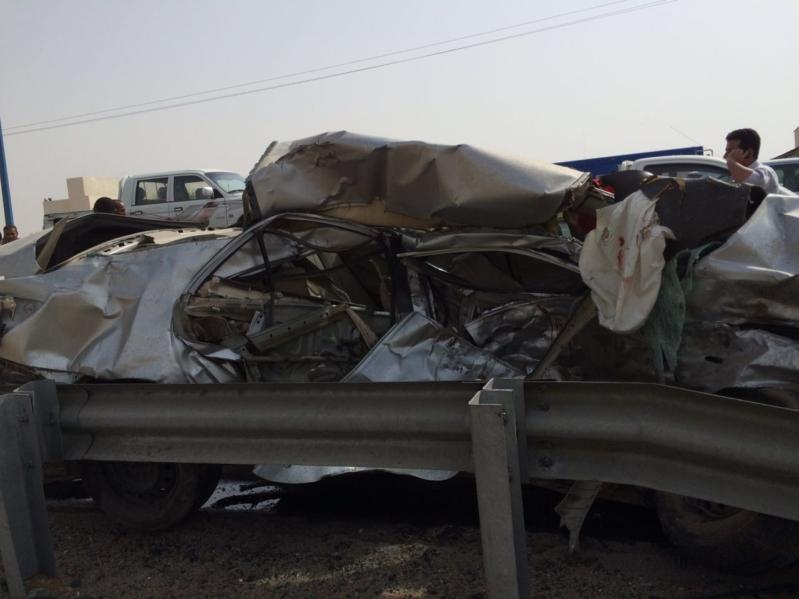 وفاة و8 إصابات في حادث مروع بدولي جازان (1)