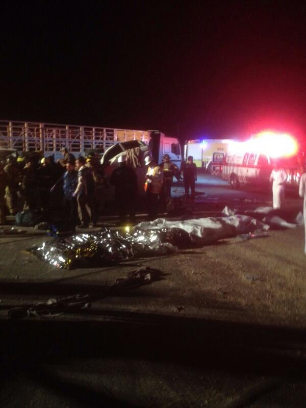 وفاة 11 مقيمًا وإصابة 14 في حادث سير بـ #الأحساء (6)