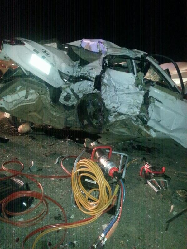 وفاة 5 وإصابة حرجة في حادث تصادم بمسارحة #جازان (1)