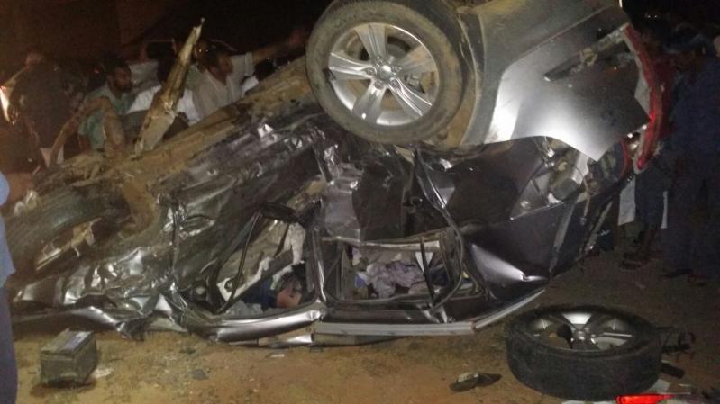 وفاتان وإصابتان في تصادم مروع بـ #جازان