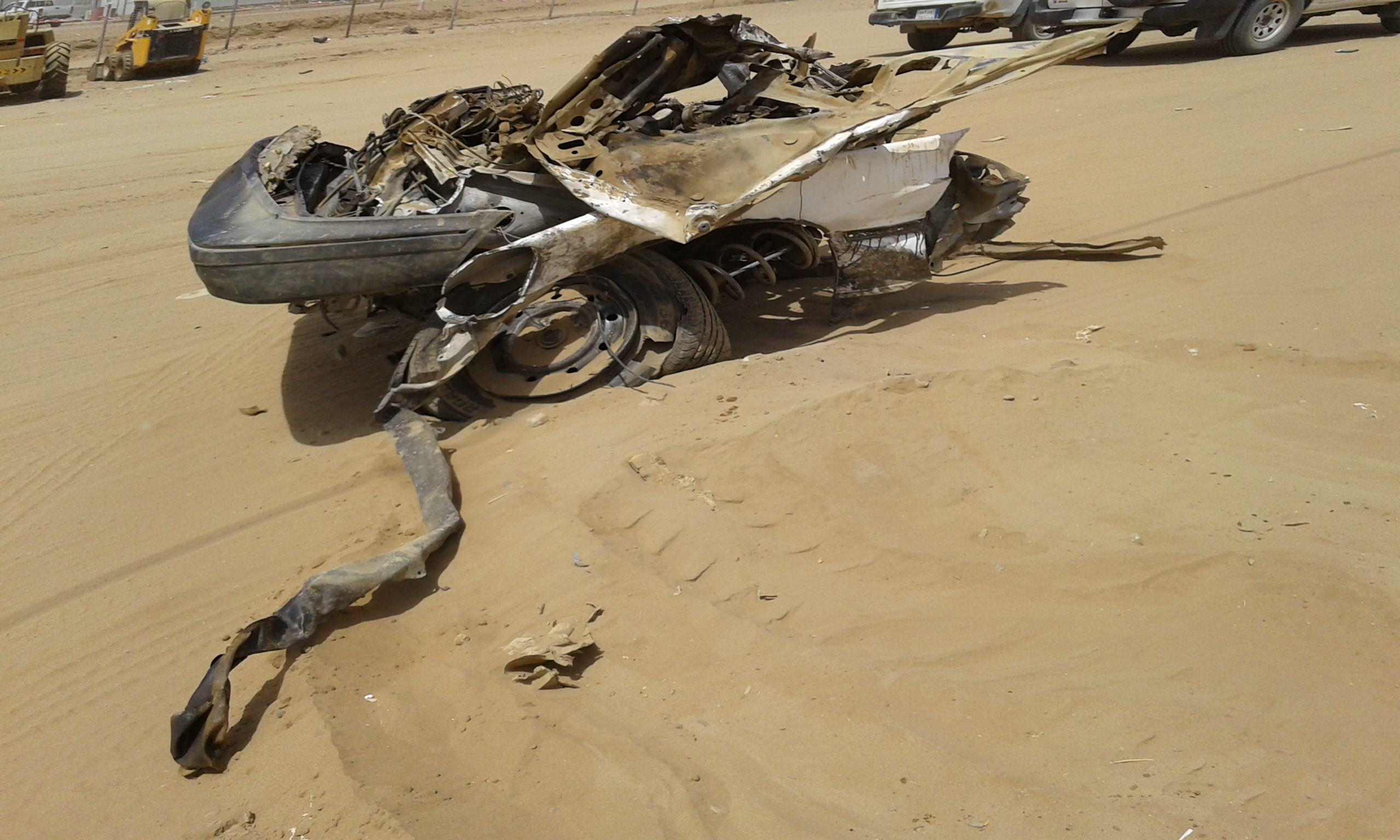 وفاتين و4 إصابات حرجة في حادت تصادم بجازان (1)