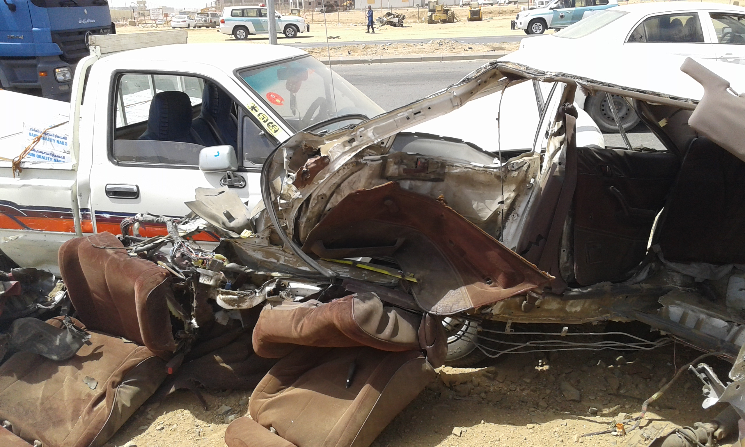 وفاتين و4 إصابات حرجة في حادت تصادم بجازان (10)