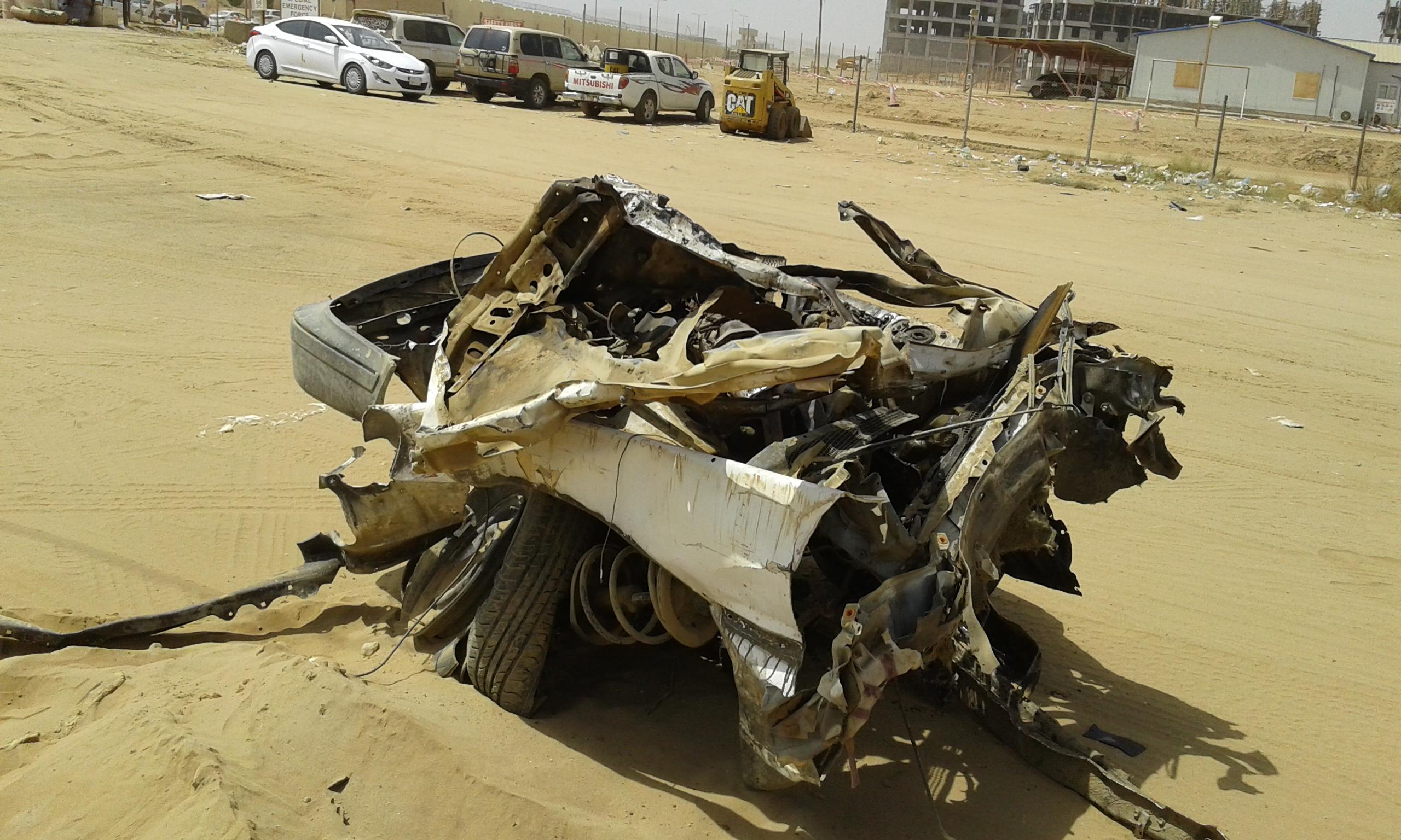 وفاتين و4 إصابات حرجة في حادت تصادم بجازان (3)