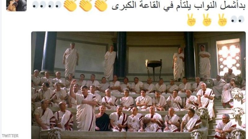 """وليد جنبلاط يغرد بصور """"نواب روما"""" في """"يوم التصويت"""""""
