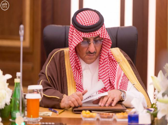 ولي العهد خلال ترؤسة اجتماع لجنة الحج