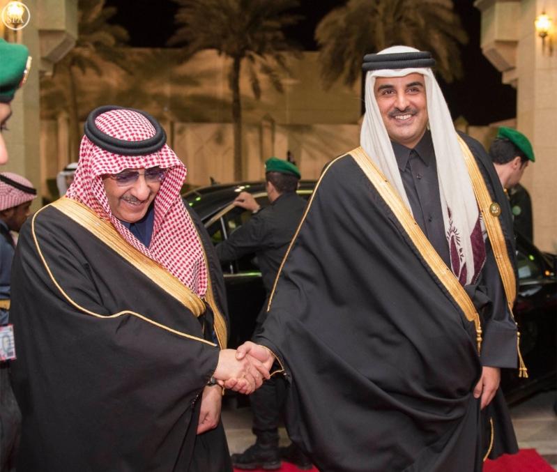 ولي العهد مع امير قطر
