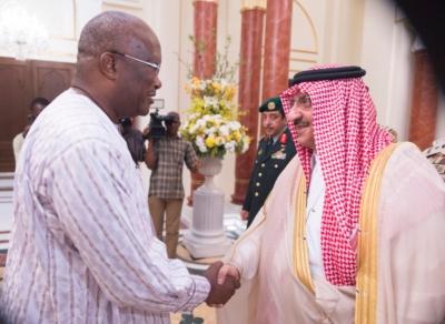 ولي العهد مع رئيس بوركينا فاسو1