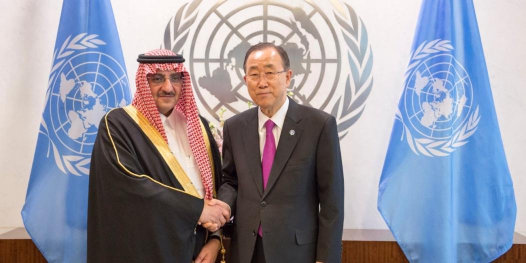 التعاون بين المملكة والأمم المتحدة عنوان لقاء ولي العهد مع بان كي مون