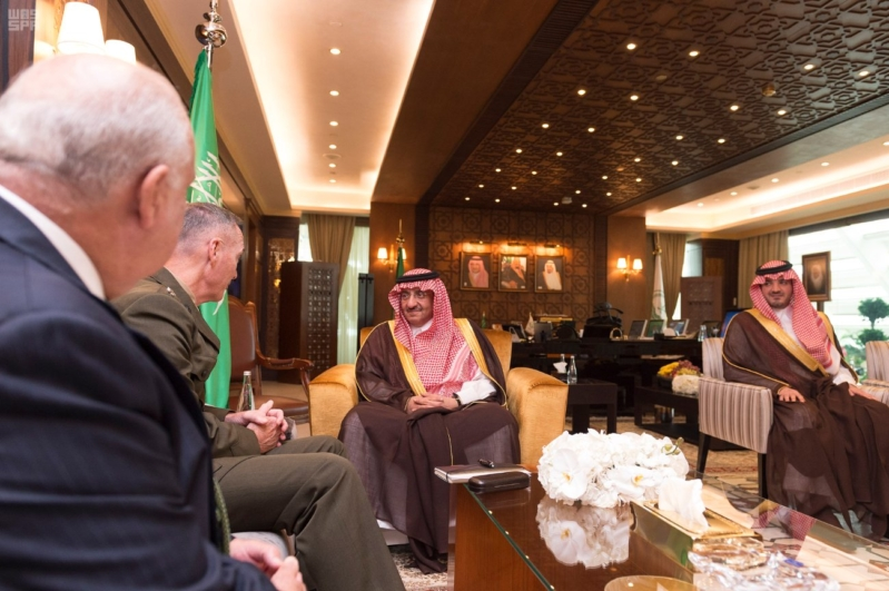 ولي العهد يبحث التعاون الأمني مع رئيس هيئة الأركان المشتركة الأمريكية 5