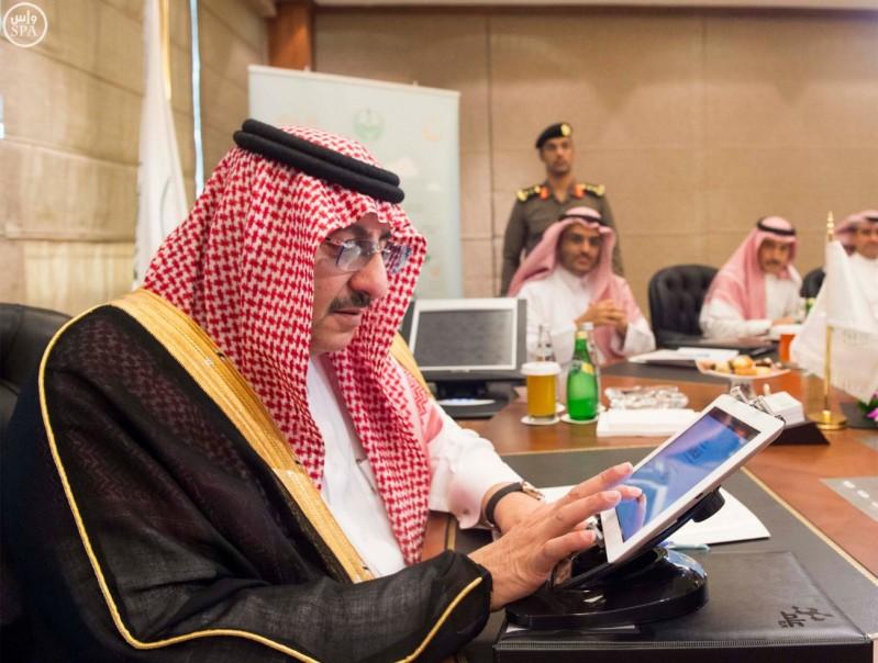 ولي العهد يدشن مشروع الملك عبدالله