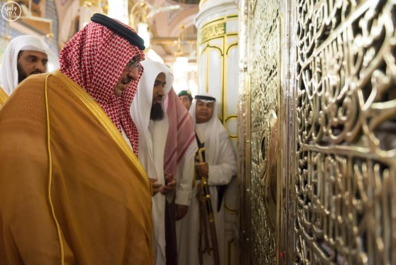 ولي العهد يزور المسجد النبوي  (34669057) 
