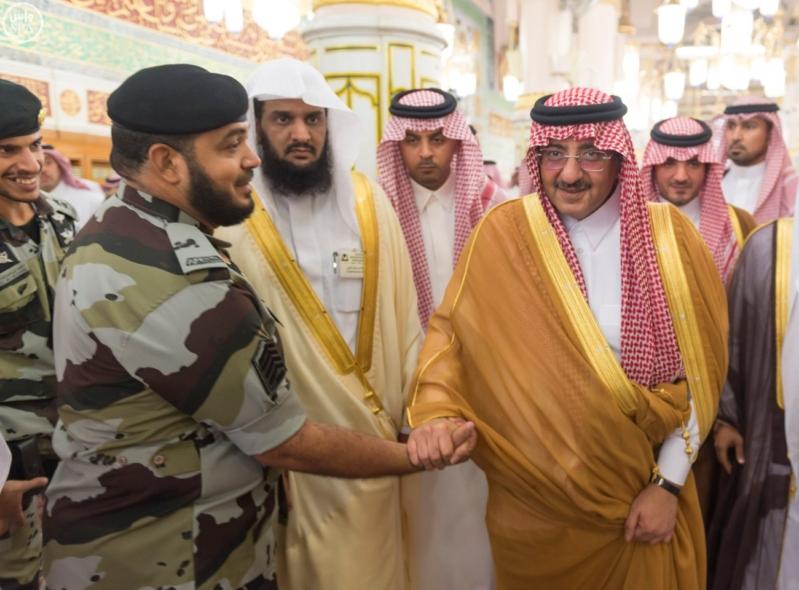ولي العهد يزور المسجد النبوي  (34669059) 