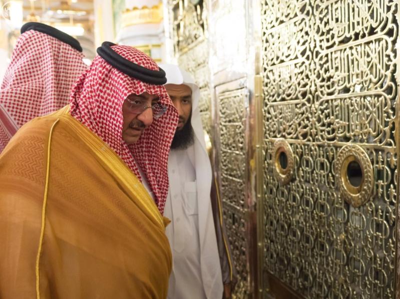 ولي العهد يزور المسجد النبوي  (34669060) 