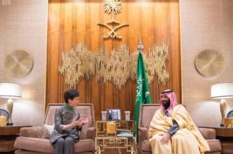 ولي العهد يستعرض العلاقات الثنائية مع رئيسة وزراء هونج كونج - المواطن