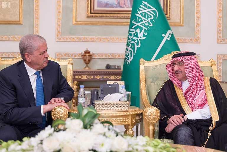 ولي العهد يستقبل الوزير الاول الجزائري1