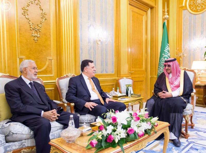 ولي العهد يستقبل رئيس حكومة الوفاق الليبي