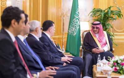 ولي العهد يستقبل رئيس حكومة الوفاق الليبي1