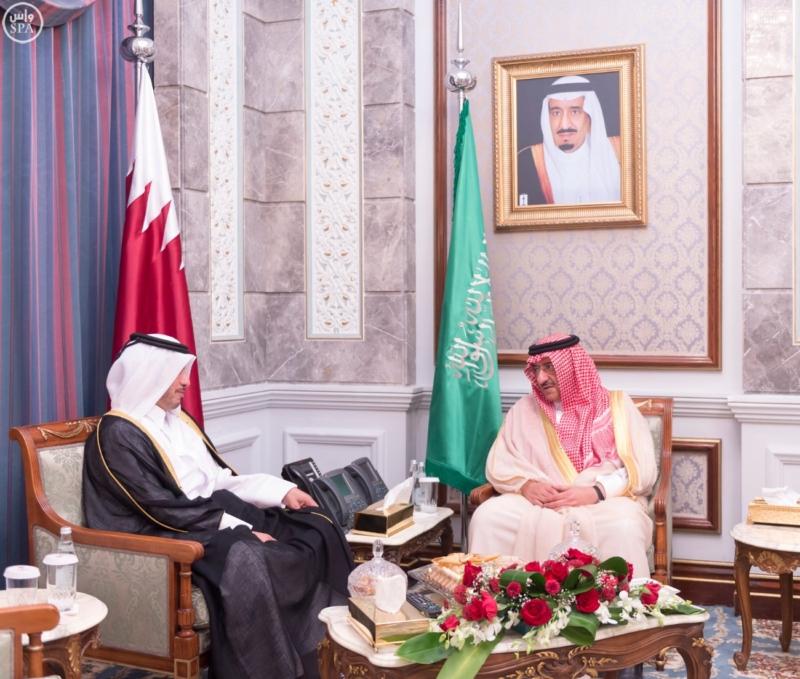 ولي العهد يستقبل رئيس مجلس الوزراء وزير الداخلية في قطر (1)