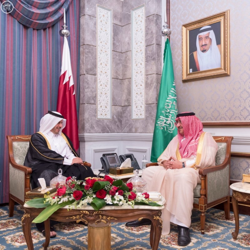 ولي العهد يستقبل رئيس مجلس الوزراء وزير الداخلية في قطر (385023957) 