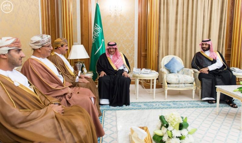 ولي العهد يستقبل وزير سلطة عمان