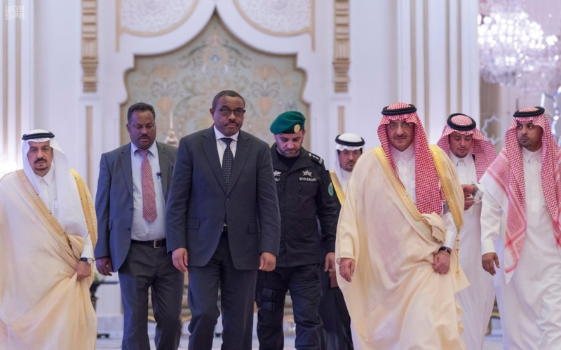 ولي العهد يقيم مأدبة غذاء لرئيس اثيوبيا
