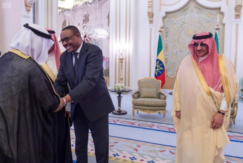 ولي العهد يقيم مأدبة غذاء لرئيس اثيوبيا2