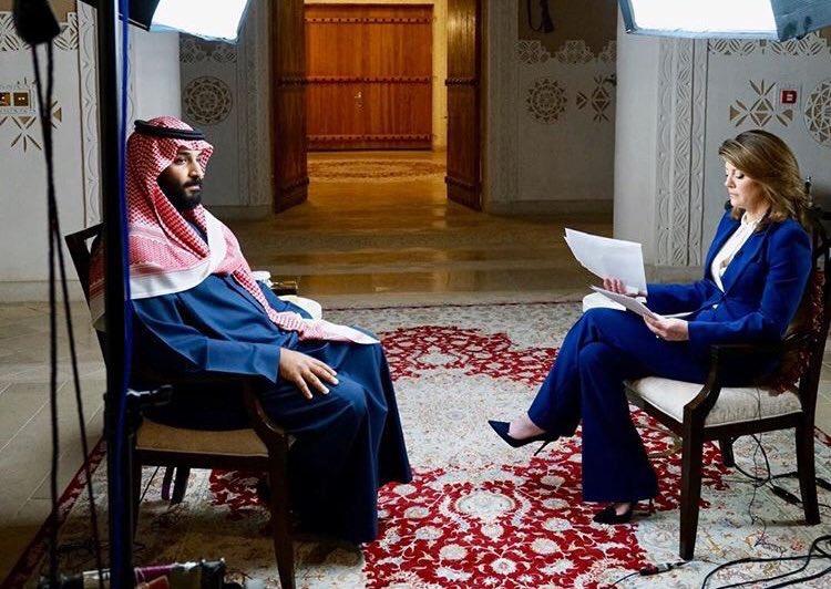 شاهد..  لقاء ولي العهد على شبكة CBS