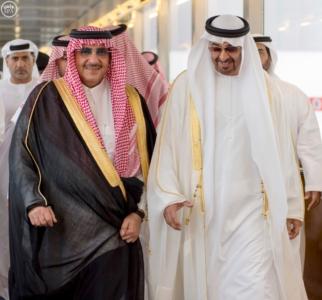 ولي عهد أبو ظبي يصل إلى جدة2