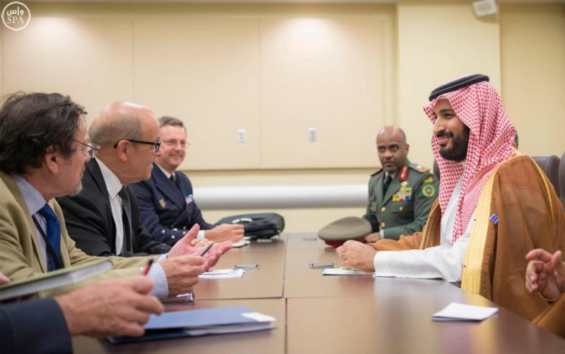 محمد بن سلمان ووزراء دفاع التحالف الدولي لمحاربة داعش