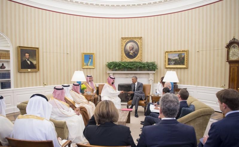 ولي ولي العهد مع اوباما 1