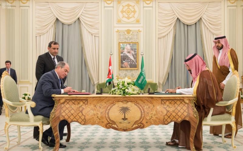ولي ولي العهد مع رئيس وزراء الاردن2