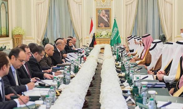 ولي ولي العهد مع رئيس وزرا مصر