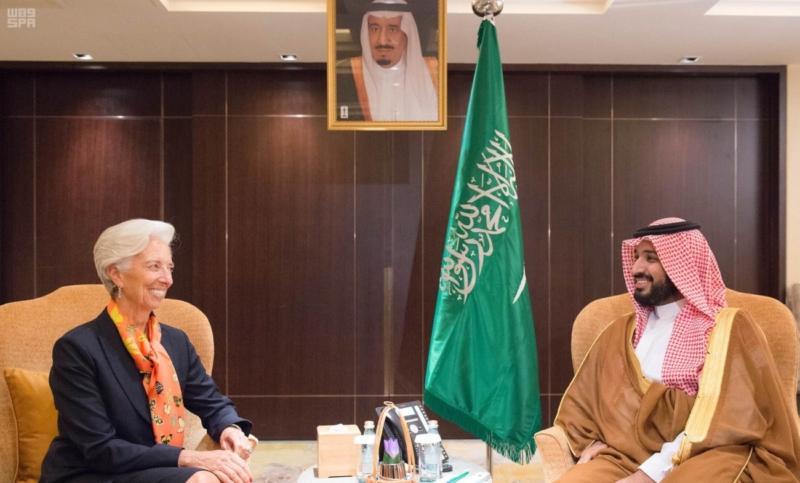 ولي ولي العهد يجتمع بمديرة عام صندوق النقد الدولي - المواطن