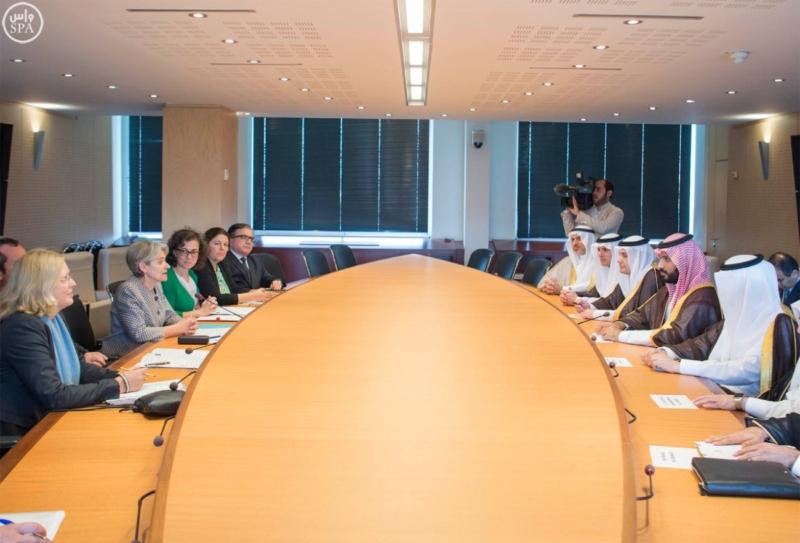 ولي ولي العهد يزور اليونسكو لبحث التعاون الثقافي وفق رؤية 20305